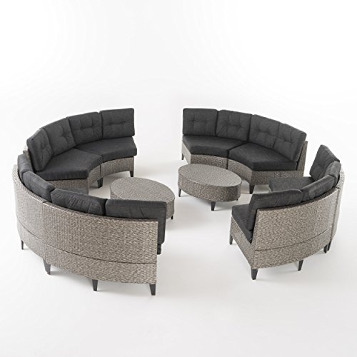 Black Wicker Furniture Outdoor Set - Full View