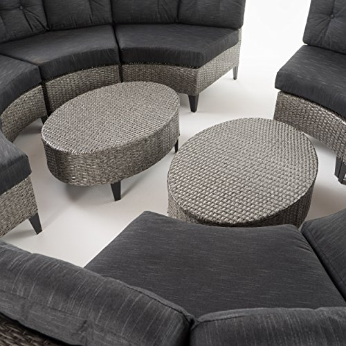 Black Wicker Furniture Outdoor Set - Close Up
