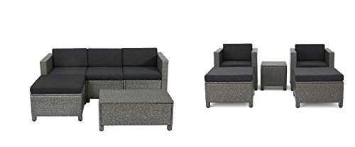Brown Wicker Outdoor Furniture - Close View