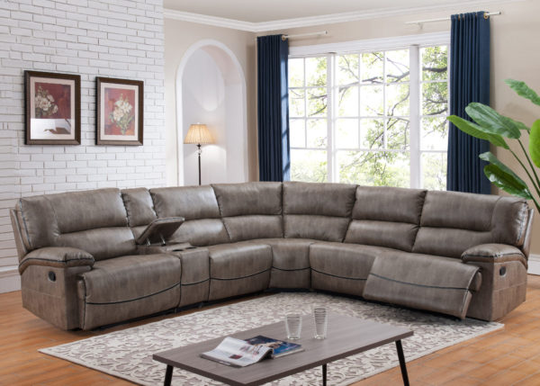 Sectional Sofa With 3 Recliners