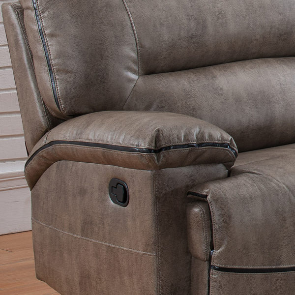Sectional Sofa With 3 Recliners - Arm