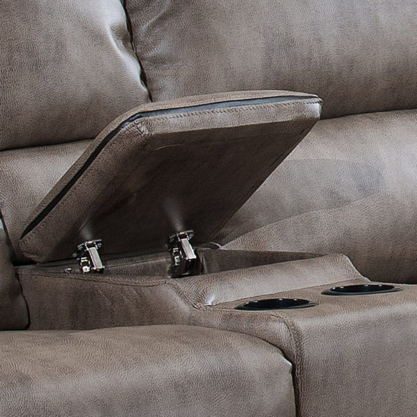 Sectional Sofa With 3 Recliners - Center Console