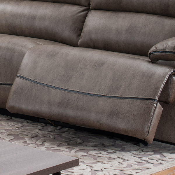 Sectional Sofa With 3 Recliners - Foot Rest