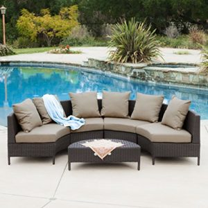 Wicker Sofa Sectional Set - Full View